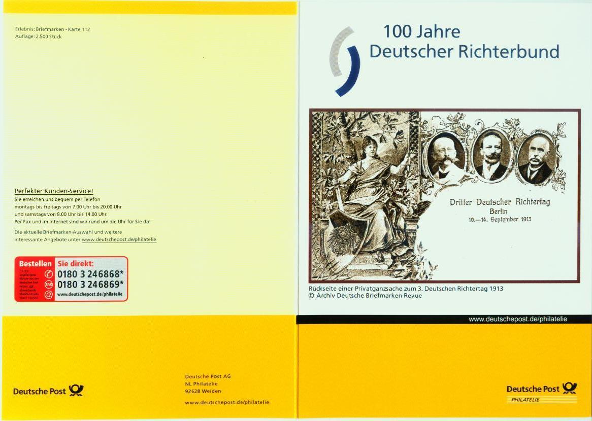 Richter Und Richtertage Auf Briefmarken Und Poststempeln